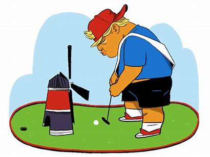 Golf Animation Trump Windmill Donald Gifs Course