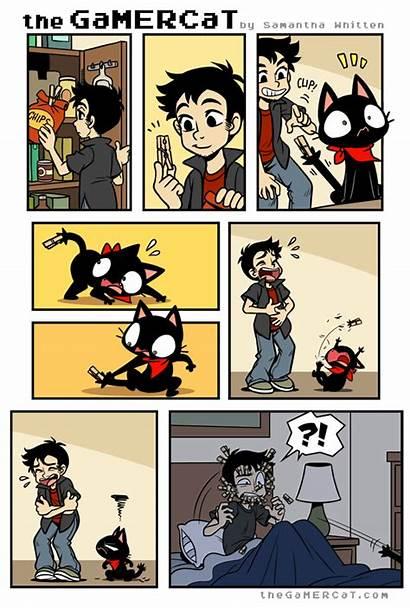 Cat Comics Gamer Gamercat Funny Tapastic Comic