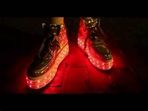 Neon Nancy s New LED Shoe Collection Light up Platforms