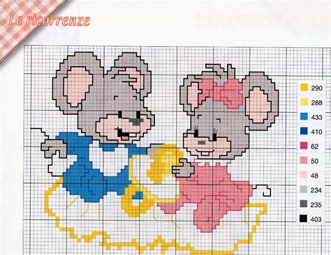 cadre de naissance souris jumeaux toutes les grilles grilles gratuites point de croix