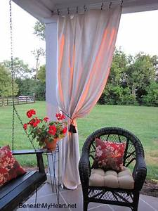 Outdoor curtains porch curtains porch enclosure for Outdoor balcony curtains