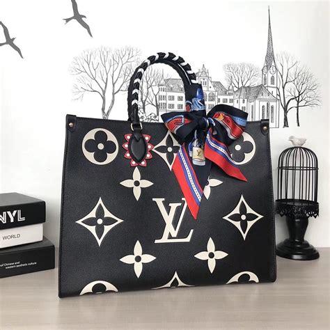 louis vuitton original leather crafty onthego gm bag  black