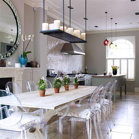 green kitchen diner open plan kitchen design ideas ideal home 1406