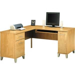 bush somerset 60 quot l shaped computer desk maple cross