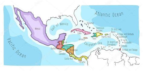 mapa mexico  centroamerica mapa de america central