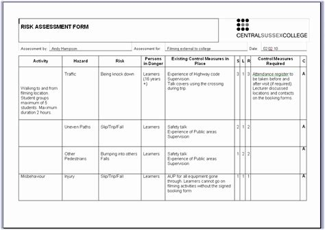 Contemporary Nda Templates Composition Exle Resume Exelent Bsa Risk Assessment Template Vignette Model