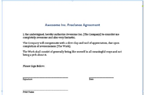 contract signature page template uk blog may 2012 archives