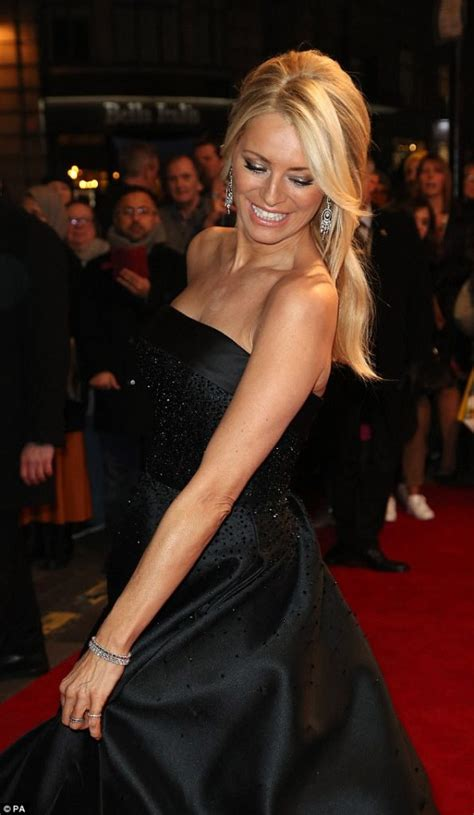 Tess Daly in black dress for Sir Bruce Forsyth Tribute ...