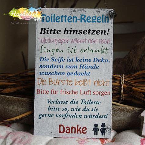 Deko Objekte Badezimmer by Deko Objekte Shabbyschild Quot Toiletten Regeln
