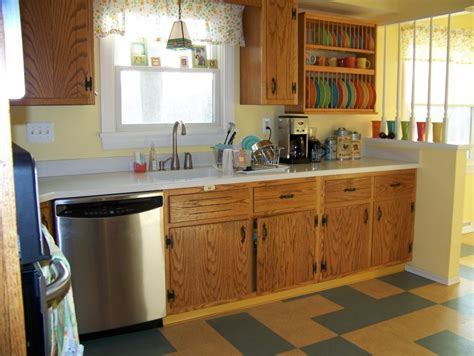 kitchen island oak diana s early 60s oak kitchen with plank doors and 1963
