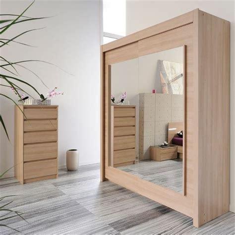 miroire chambre armoire 2 portes coulissantes avec miroirs