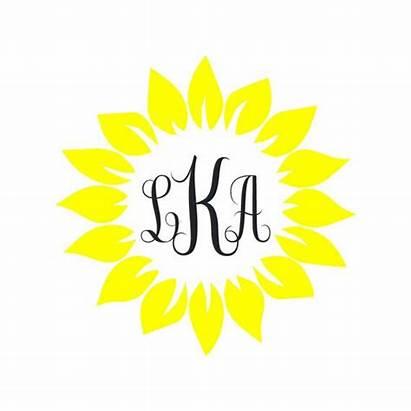 Vinyl Sunflower Monogram Decal Decals Cricut Monograms