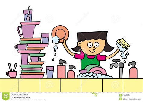 ustensile de cuisine en p lave vaisselle illustration stock illustration du lavage 26086506