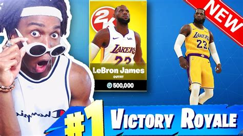 lebron james laker fortnite takeover nba  mash