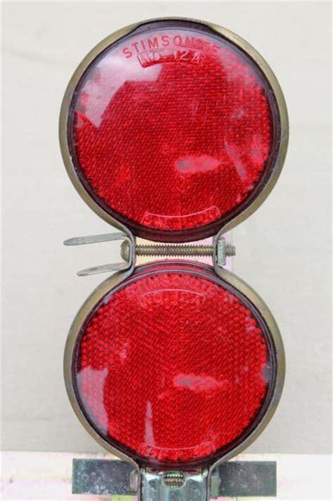 vintage ih reflector flares  metal case trucker safety