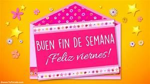 Tarjeta de feliz viernes Hola, saludos y buen día, tarjetas