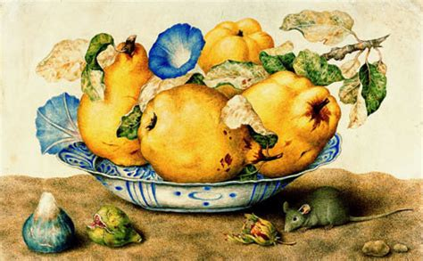 Food Art Still Life With Mouse By Italian Female Painter