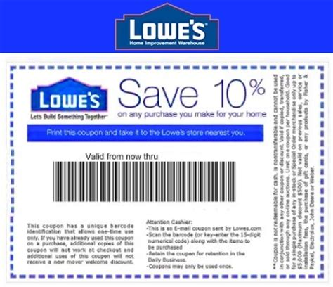 Printable Coupons Home Depot Lowes