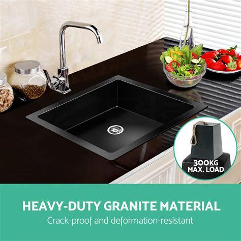 granite single bowl kitchen sink 460x410mm premium black kitchen sink granite top 6892