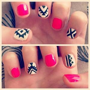 Tribal nail art... Seems easy enough | Hair, Makeup, and ...