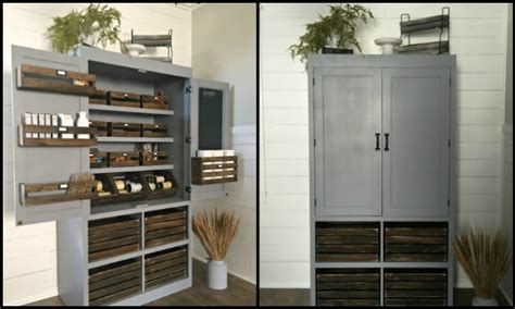 Free Standing Pantry Cabinet by A Freestanding Pantry For Small Spaces Your Projects Obn