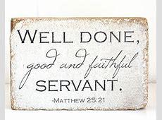 well done good and faithful servant – Andover UMC