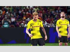 PES 2018 PS4 Pro Preview 4K Barcelona Dortmund 1