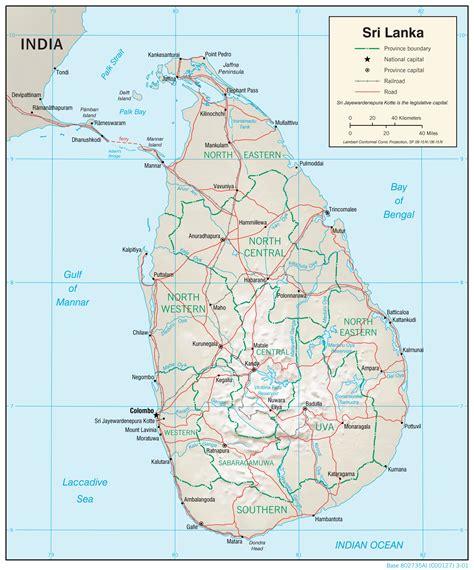 Karte Sri Lanka
