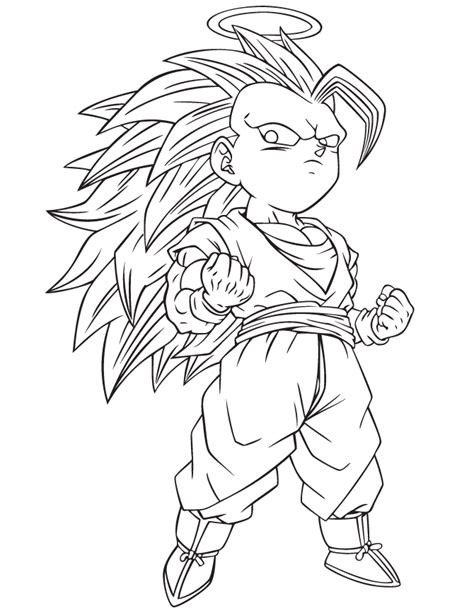 z gotenks coloring page h m coloring pages