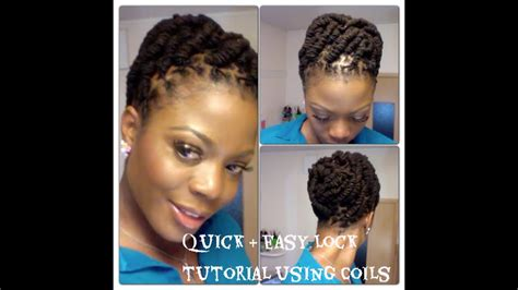 Hairstyles For Locks by Simple And Lock Hairstyle Using Coils