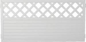 Wpc Platten Günstig : lightline sichtschutz mit gitter 180x90 cm wei 46294 g nstig ~ Orissabook.com Haus und Dekorationen