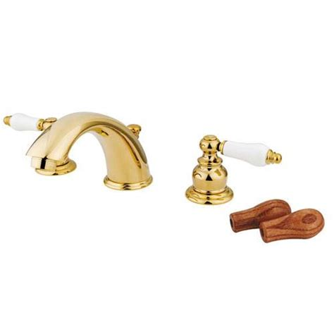 Polished Brass Bath Faucets by Kingston Polished Brass 2 Handle Widespread Bathroom