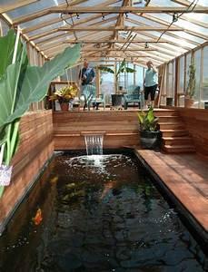 Fische Aus Holz : wintergarten holz selber bauen tipps teich koi fische holzboden pflanzen gew chshaus ~ Buech-reservation.com Haus und Dekorationen