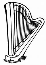 Harp Coloring Pages sketch template