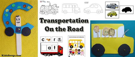 school pretend play and activities kidssoup 312 | Transportation Cars Buses Activities 0