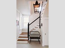 Black & White Entryway Farmhouse Staircase chicago