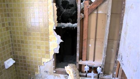 floor bathroom demolition youtube