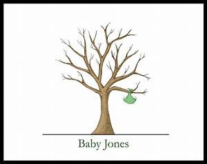 baby shower thumbprint guest book baby shower With baby shower thumbprint tree template