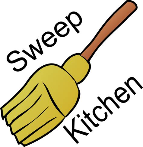 chore sweep kitchen clip art  clkercom vector clip
