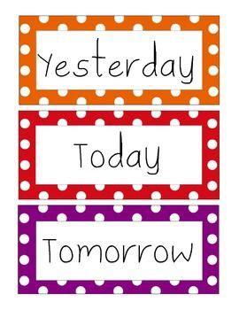 days   week number shape  letter signs