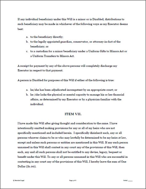 Will And Testament Pdf Last Will And Testament Template