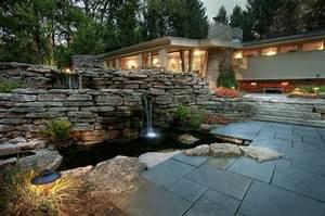 Wasserfall Im Garten. wasserfall im garten selber bauen und die ...