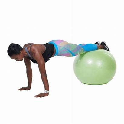 Ball Stability Exercises Shape Crunches Prone Plank