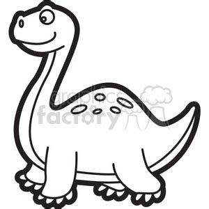 trex dinosaur cartoon  black  white clipart royalty