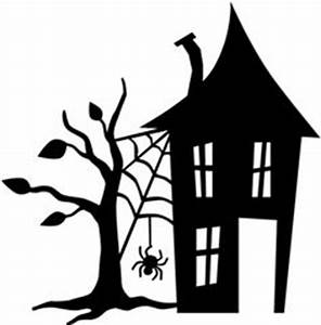 Haunted house silhouettes clip art | stencils | Pinterest ...