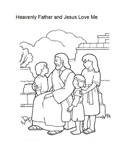 heavenly father  jesus love  coloring page color