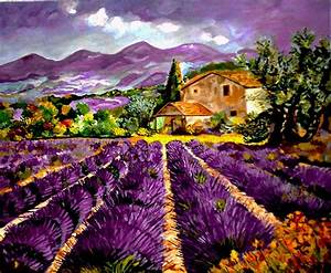 lavender fields oil painting... | Love of Lavender ...