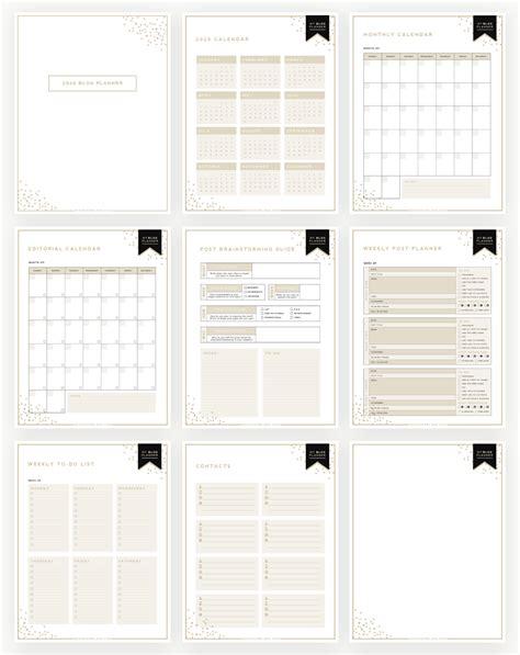 ultimate blog planner  printable designer blogs