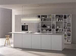 Küche In Betonoptik : grifflose k che silvia in wei und betonoptik ~ Michelbontemps.com Haus und Dekorationen