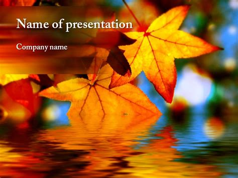 Autumn Leaves Fall Backgrounds Powerpoint by Autumn Powerpoint Template Autumn Awesome Powerpoint